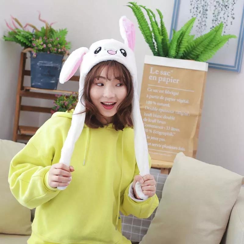 Topi Boneka Telinga Hingga Down Rabbit Topi Lucu Kelinci Airbag Mewah Playtoy Hadiah Mainan untuk Anak