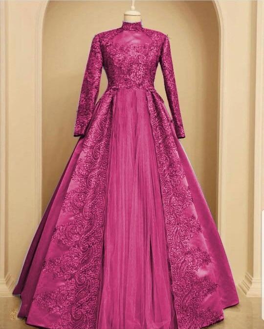 Muslim Hijab Store Baju Gamis Muslim Wanita Maxi Nurjanah Velvet  Roberto+Brukat TM Dress Pesta 278a9c4d44