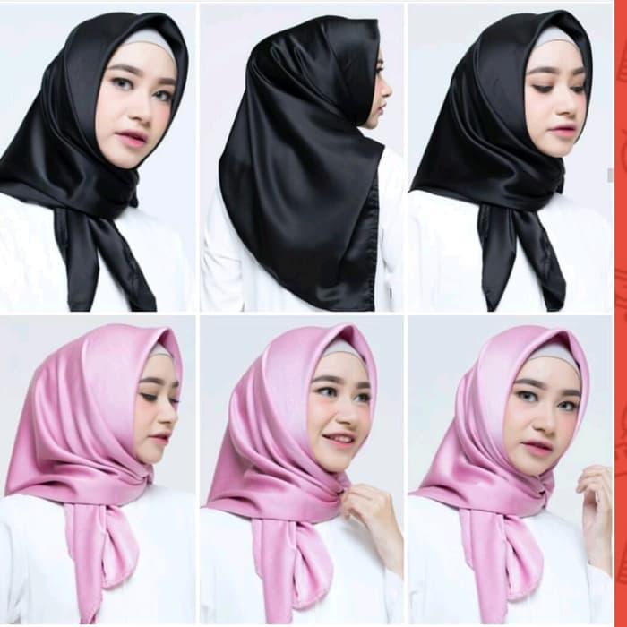 Hijab Segi Empat Satin Polos Warna Terlengkap Jilbab Segiempat Satin Polos Kerudung Segi Empat Satin Polos Hijab Segi Empat Polos Lazada Indonesia