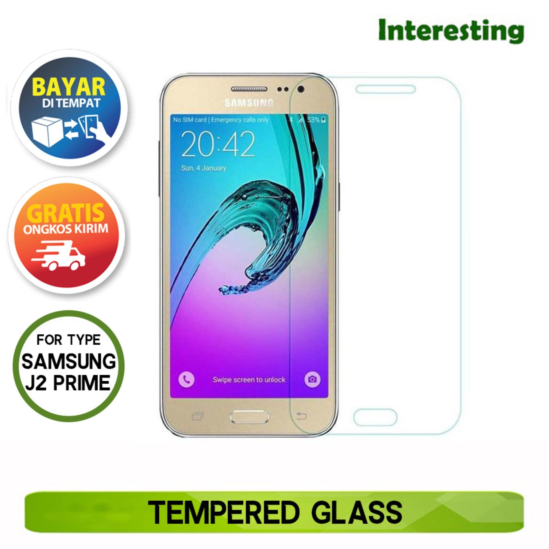 Interesting - Tempered Glass for Samsung Galaxy J2 Prime Anti Gores kaca - Clear
