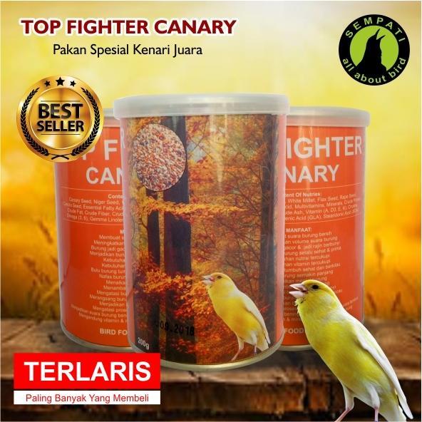 Top Fighter Canary Sempati Pakan Lomba Burung Kenari Juara Berkicau Rajin Bunyi Gacor