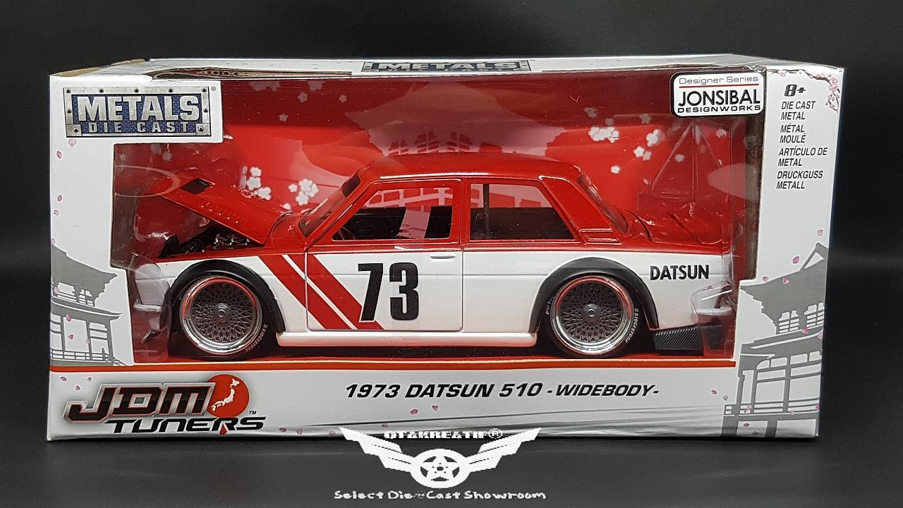 JADA JDM Tuners 1973 Datsun 510 Wide Body Red & White ...