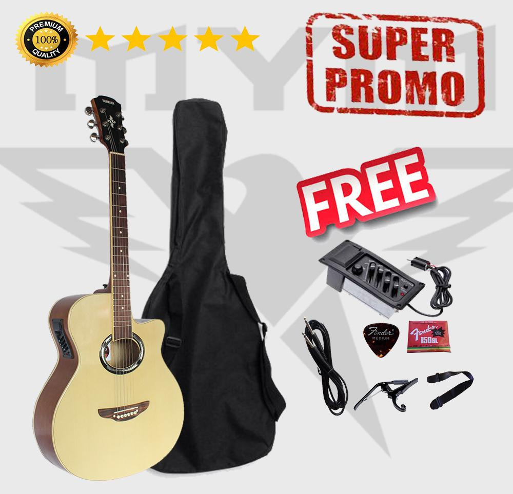 Gitar Akustik Elektrik APX500Il Custom Coklat Natural