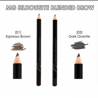 MADAME GIE SILHOUETTE BLENDED BROW - PENSIL ALIS MADAME GIE - EYEBROW - ESPRESSO BROWN 1