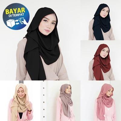 [PROMO] Jilbab / Hijab Pashmina Instan ZAFINA - Kerudung Pasmina Instant - Pashmina Instan