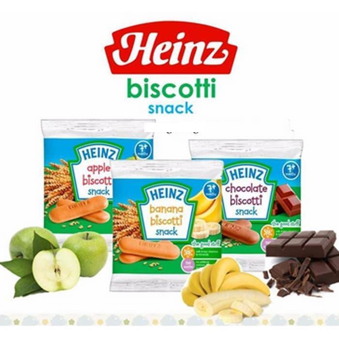 Heinz Biscotti Snack (banana Chocolatte Apple) Biskuit Snack Bayi By Tspoint Store.