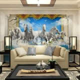 Berapa Harga Eco Friendy 3D Huge Mural Papel De Parede Horse Galloping View For Bedroom Sofa Tv Living Room Wallpaper Di Tiongkok