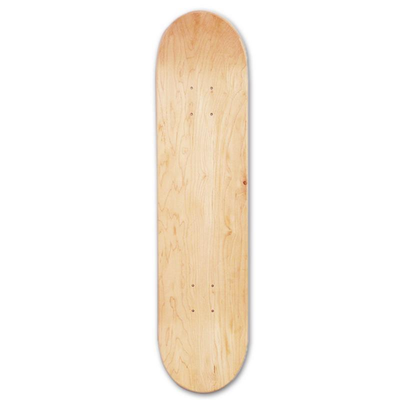 Bảng giá 8Inch 8-Layer Maple Blank Double Concave Skateboards Natural Skate Deck Board Skateboards Deck Wood Maple
