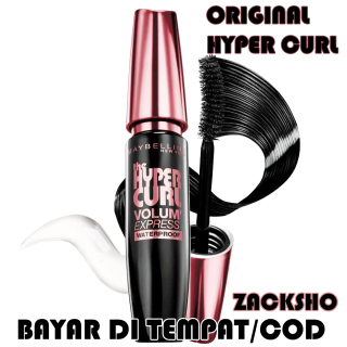 Maybelline Volume Express Hypercurl Mascara Black Original - MASKARA MAYBELLINE VOLUM EXPRESS - WATERPROFF MASCARA - NEW YORK BLACK kosmetik thumbnail