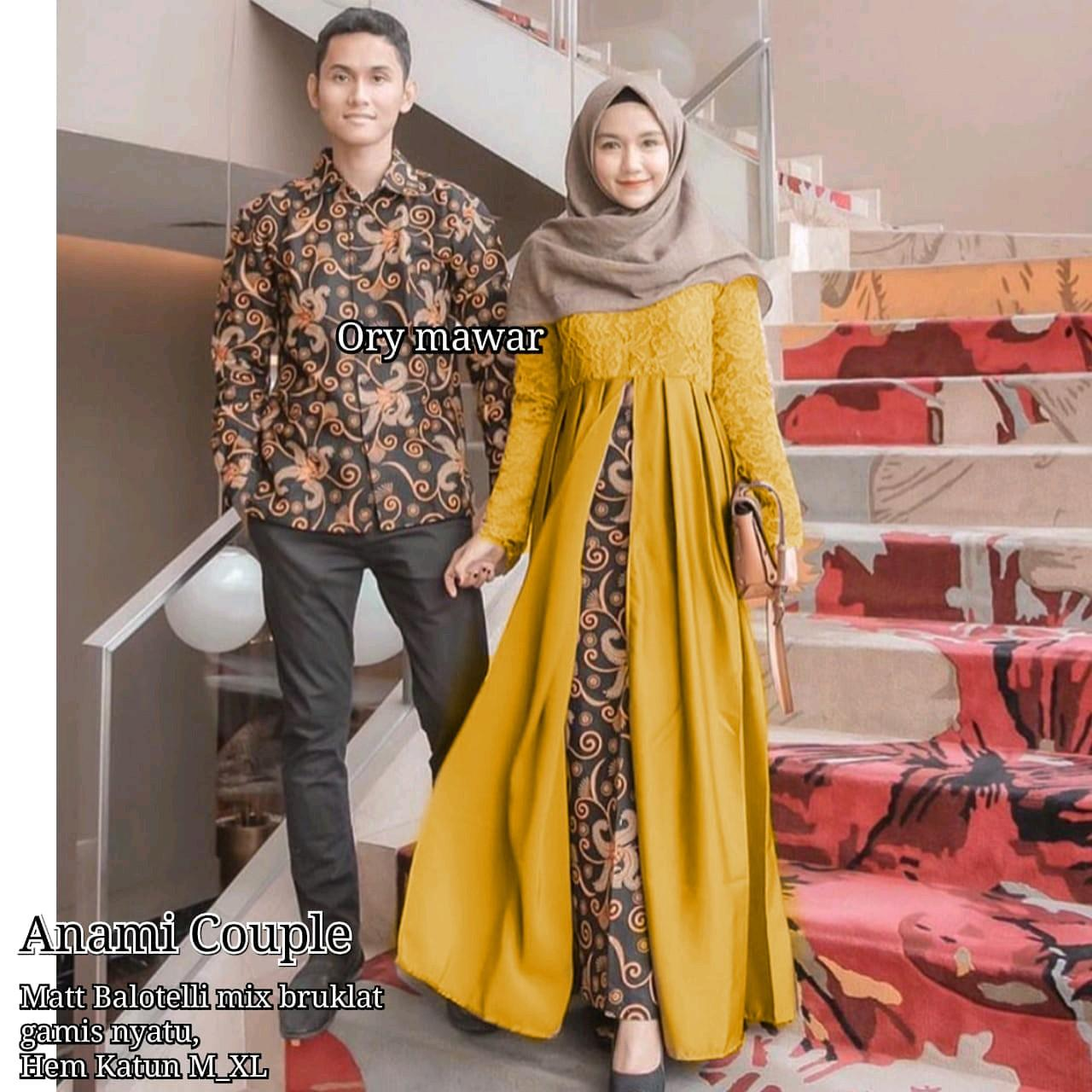 TERMURAH - Batik Couple / Couple Batik / Baju Muslim Wanita Terbaru 2018 / Batik Murah / Batik Sarimbit / Baju Batik Couple Modern / Batik Kondangan / Batik Keluarga / Batik Pekalongan - Baju Batik Cp Anami