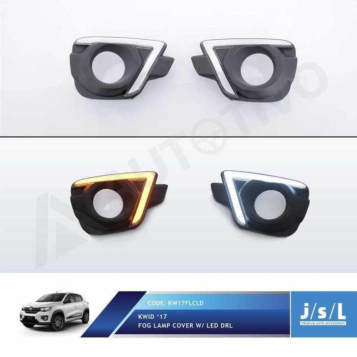 JSL LED DRL Renault Kwid Fog Lamp Cover DRL with Sein - MS