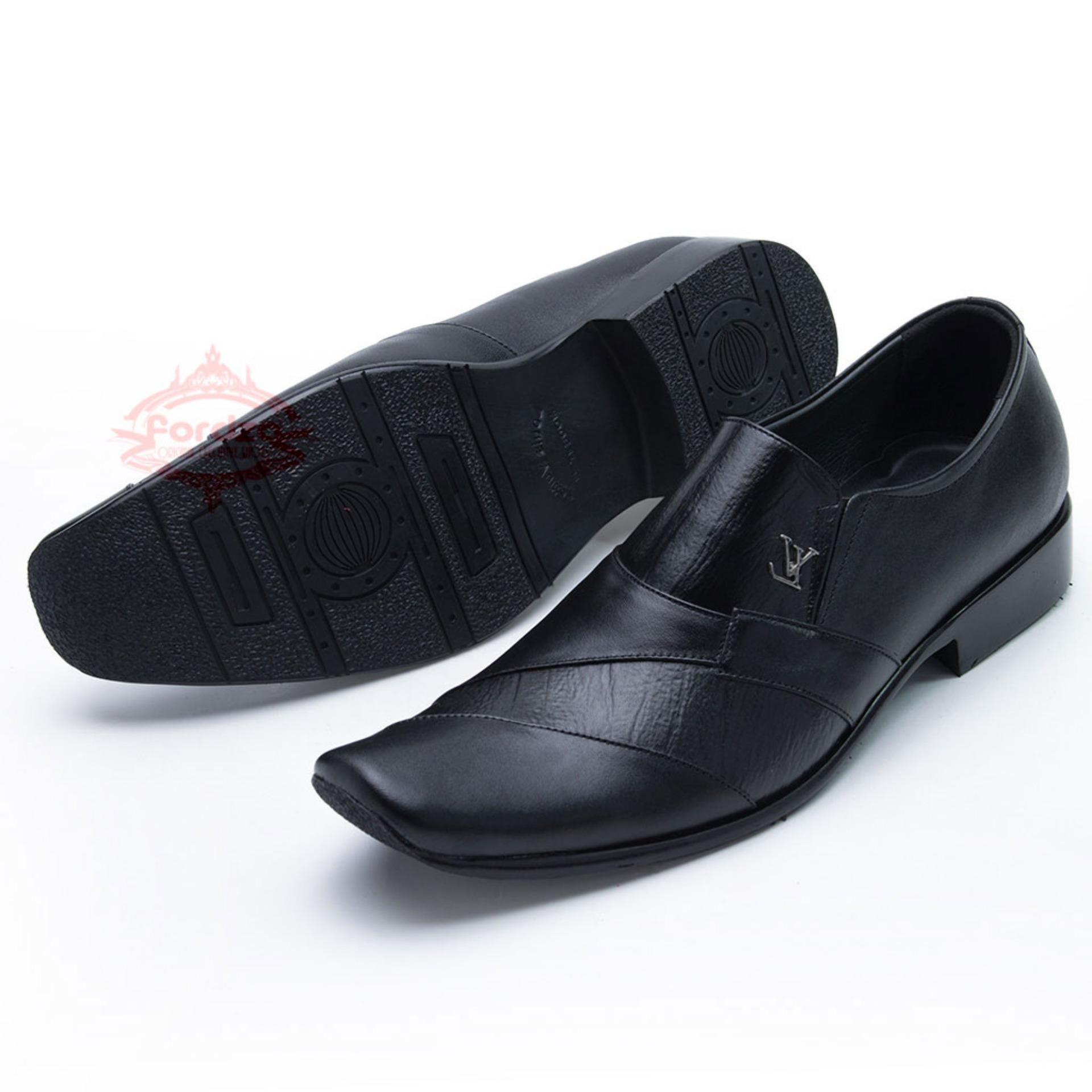 Sepatu Kulit Pantofel Kantor Kerja Bahan Kulit Asli 902HT 0157f9a2a7