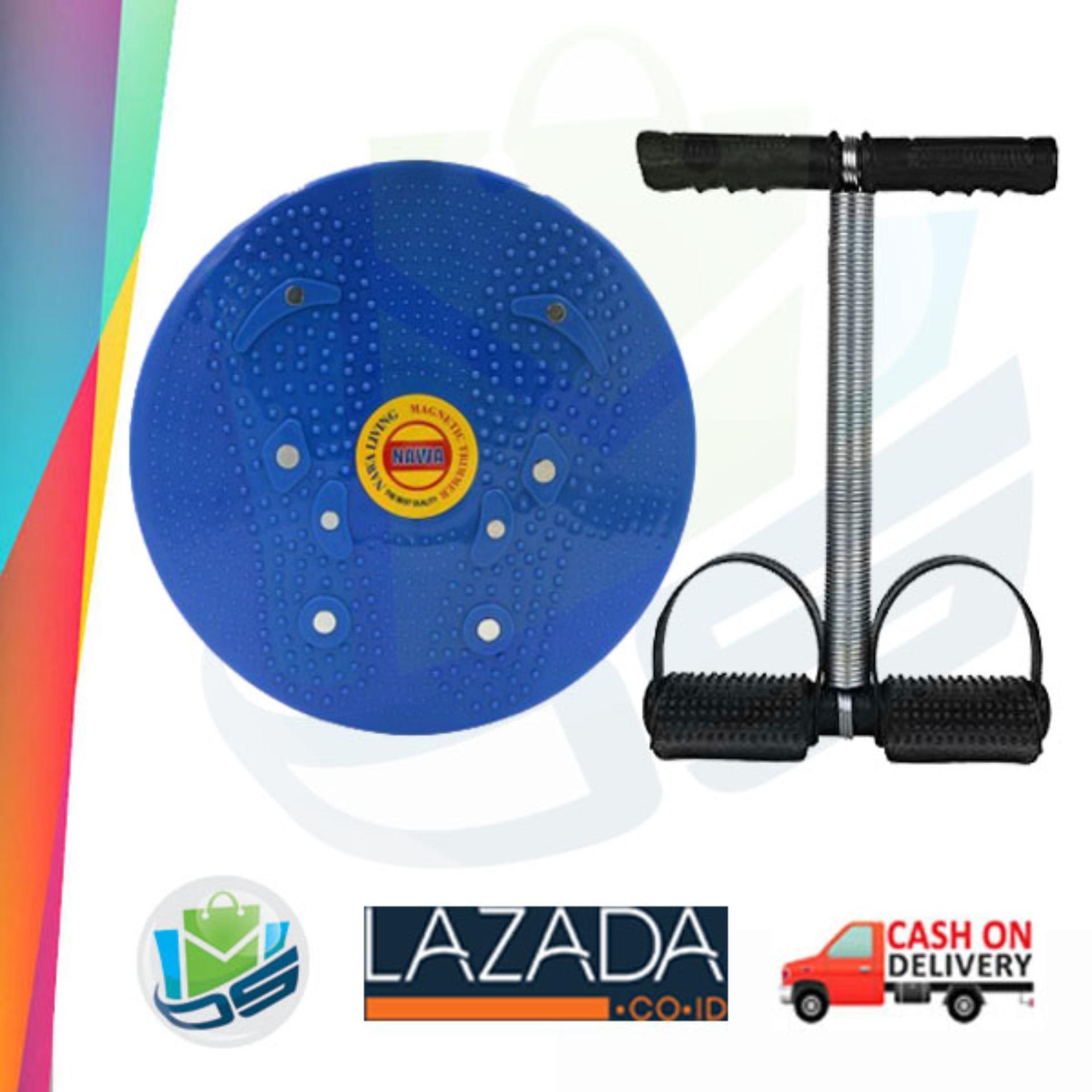 Paket Alat Fitness Pelangsing Tubuh Tummy Trimmer Dan Jogging Body Plate | Lazada Indonesia