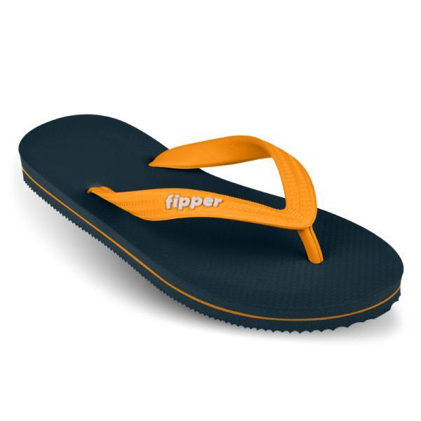 Sandal Jepit / Sendal Fipper Slick in Blue Snorkel Yellow