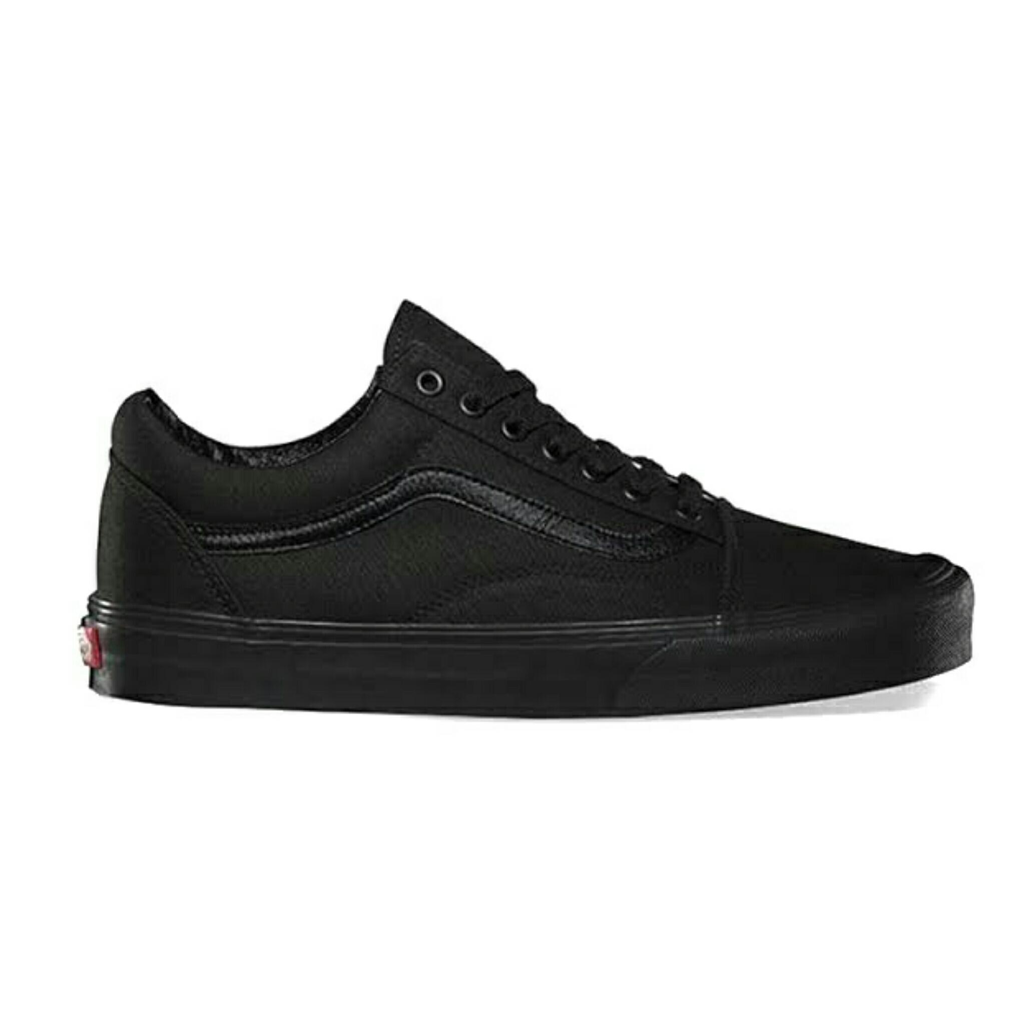 Sepatu Vans Old Skool Classic Black White All Black All White / Sepatu Sneakers Pria / Sepatu Casual Skate Keren Gaya Murah Couple OS Old School