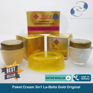 [ PAKET ] Cream La Bella Original Day and Night Cream LaBella Gold thumbnail
