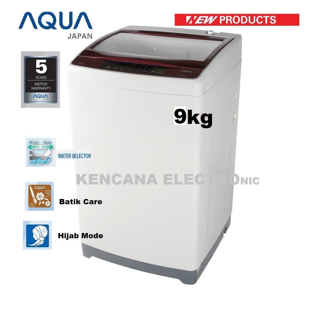 Aqua (Sanyo) AQW-98D Mesin Cuci Top Load 9Kg - Khusus JABODETABEK