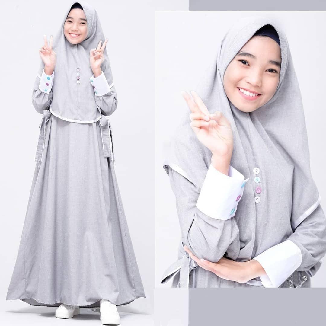 Maya Syari Set Khimar Kids Wanita Muslim / Baju Syari Anak Perempuan  Terbaru / Baju Gamis Syari Anak Usia 11 - 11 Tahun / Baju Gamis Anak Wanita