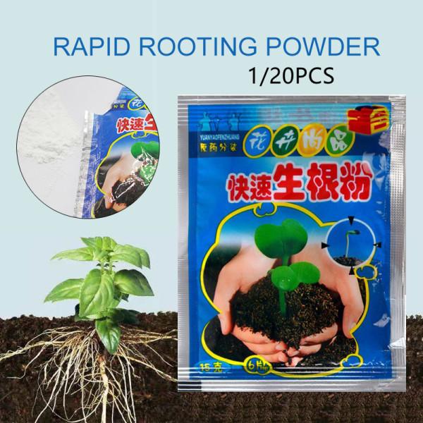 FavorMax 1/20pcs Fast Rooting Powder Root Hormone Powder Improve Flowering Cutting Survival Rate Plants Root Grow Cut Dip Powder Rapid Growth Courtyard Terrace Garden