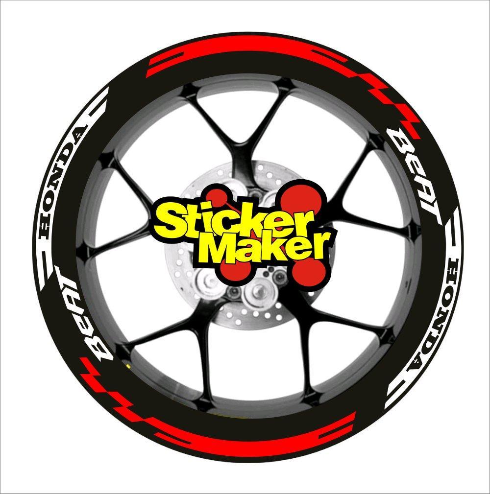 Ngemall - Sticker Cutting 2 Velg Pelek Honda Beat - Merah - Ngemall