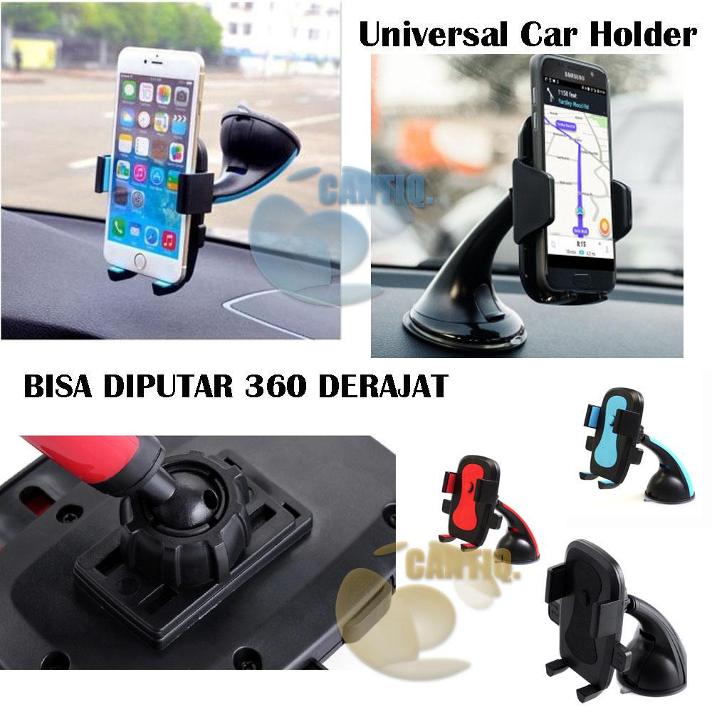 Icantiq Universal Mobil Holder Car Phone Holder 360 Derajat Bisa Di Putar For Smartphones Up To 6.5 Inch Model Wn 1080 / Penyanggah Smartphone Di Mobil Holder Gps Holder Mobil Di Kaca Mobil / Smartphone Car Holder - Warna Random By Cantiq..