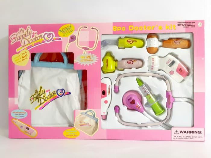 Mainan Dokter Dokteran (my Family Dokter Set Pink) By Mainananakbaby.