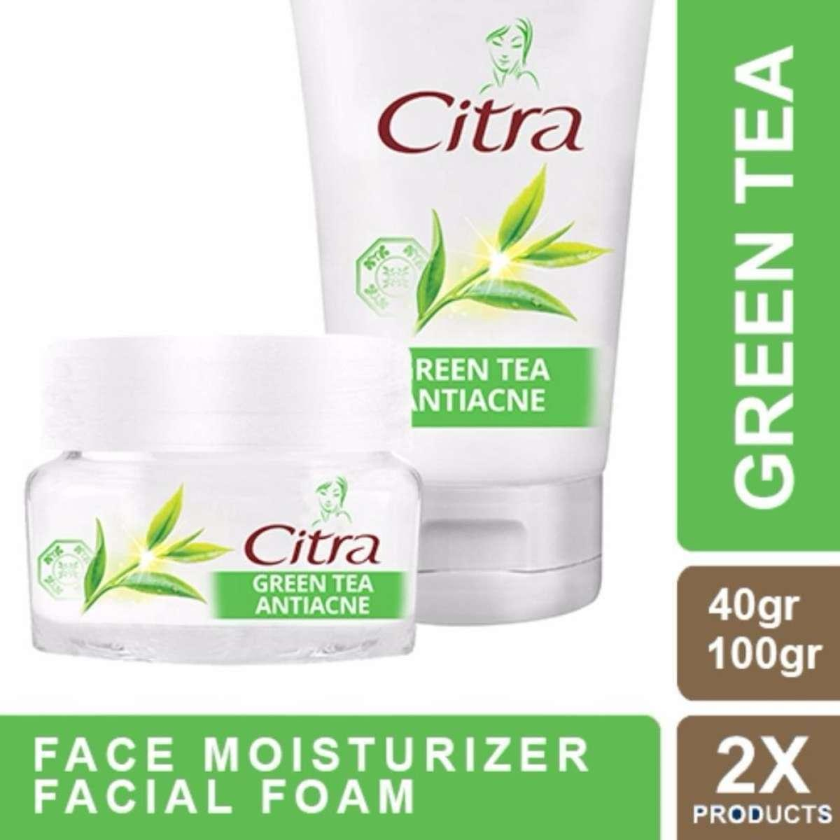 Citra Antiacne Green Tea Facial Foam 100gr & Face Moisturizer 40gr
