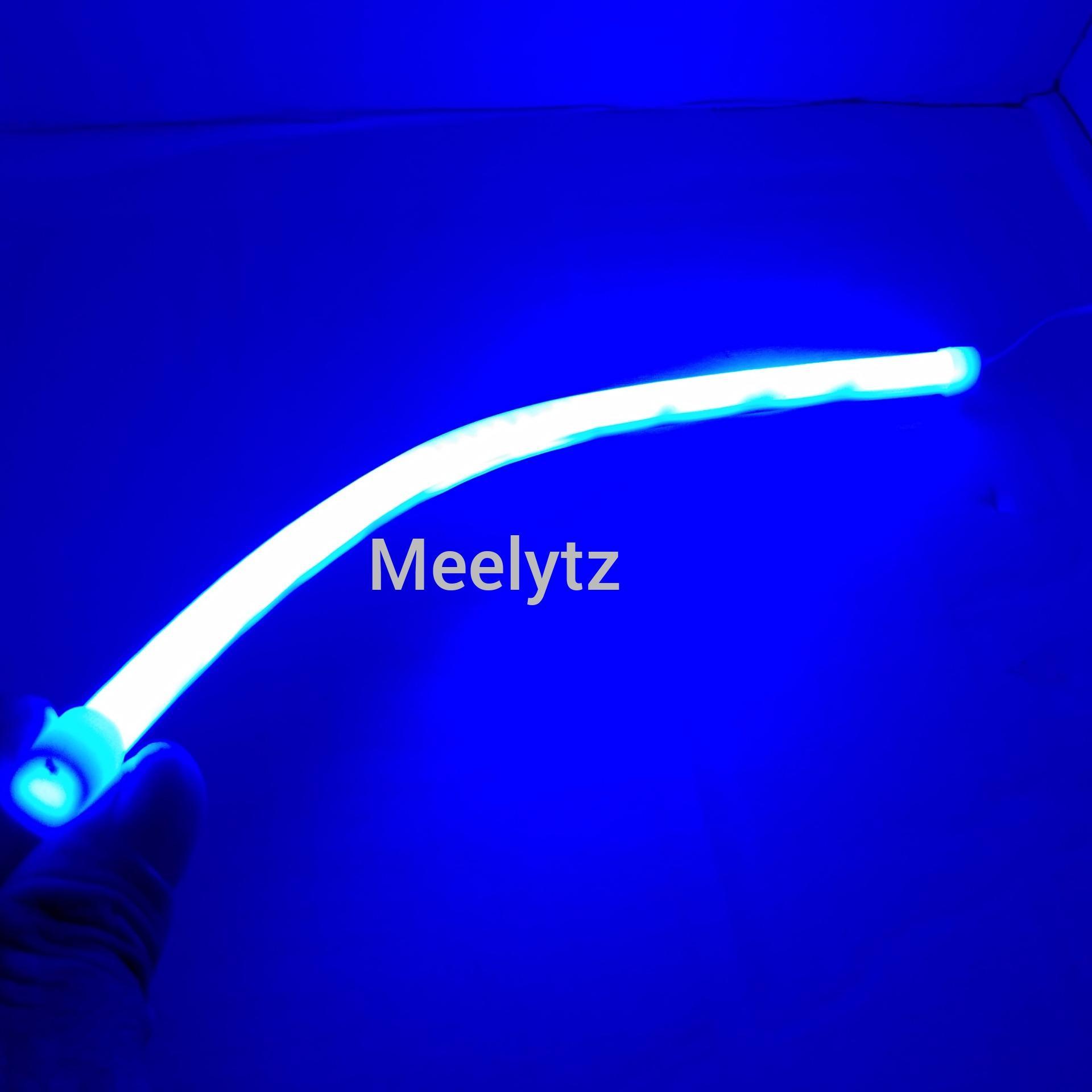 Lampu Alis LED fleksibel Biru 30cm LED alis motor