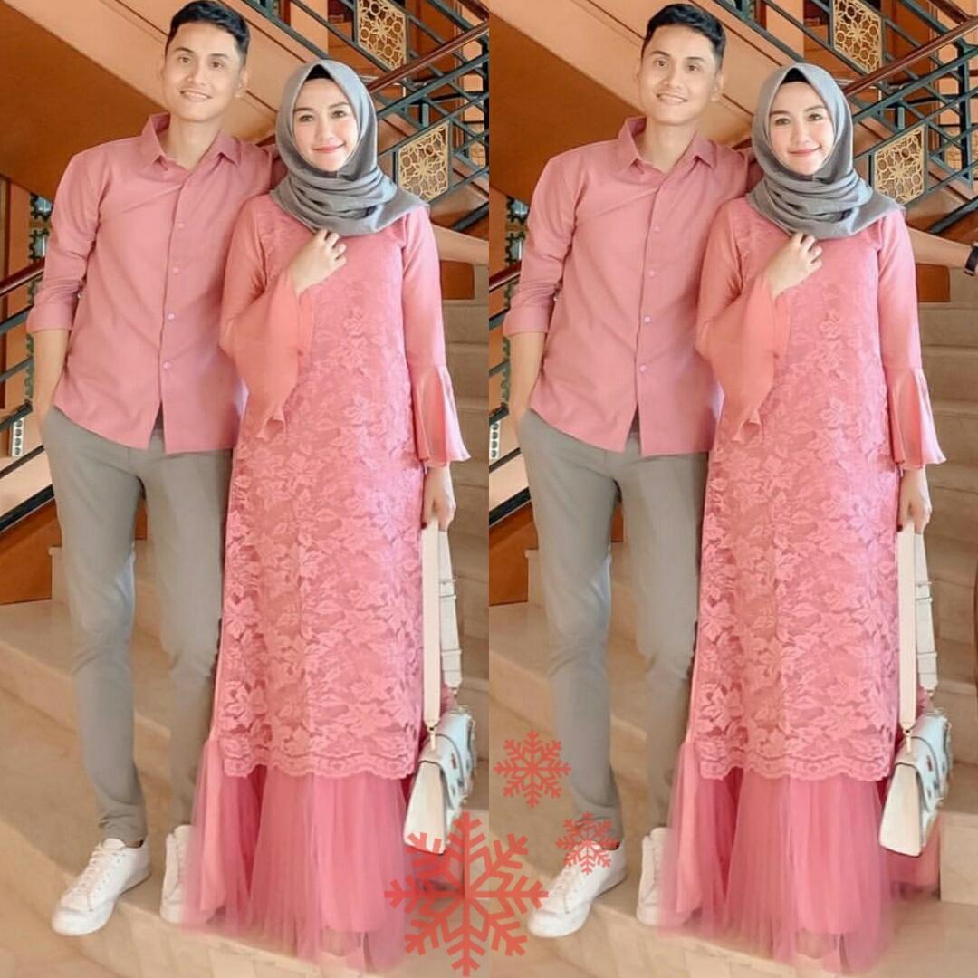 LX- Cp Pelino / Pakaian Couple / Baju Muslim / Baju Pasangan / Baju Couple Muslim