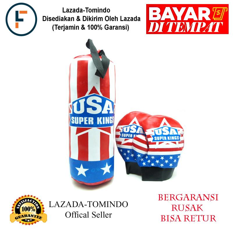 Tomindo Boxing Set Usa / Punching Bag / Samsak Sarung Tinju Usa / Mainan Anak / Mainan Anak Laki / Mainan Olahraga By Tomindo.