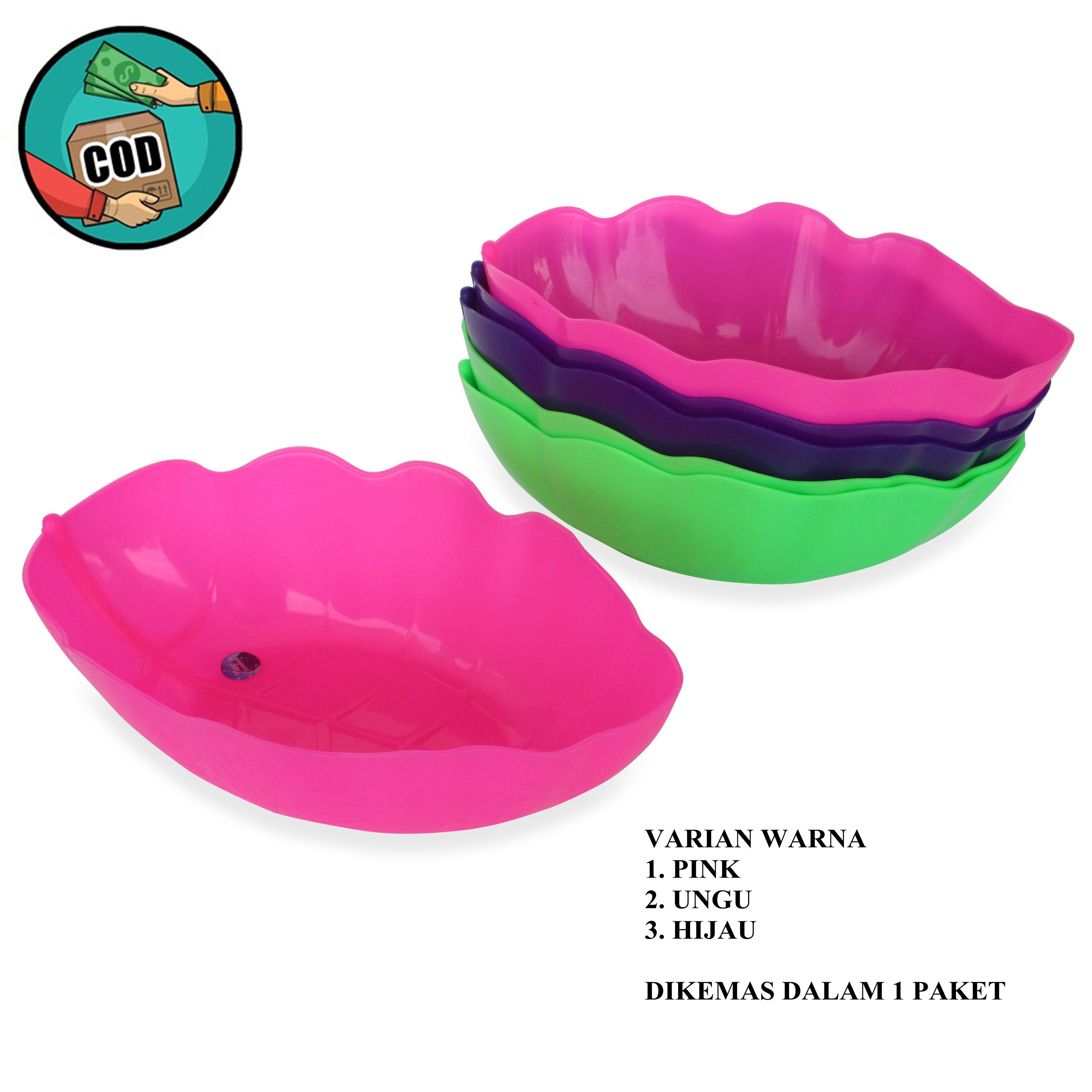 Mitra Loka Mangkok Daun Plastik Serbaguna Set 6Pieces - Multicolour