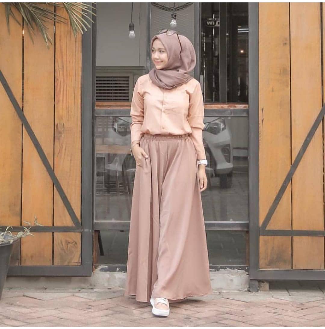 Baju Remaja Kekinian Modis Set Bahan Mosscrape Atasan Rok Baju Atasan Casual Terbaru Fashion Lengan Panjang Wanita Kerja Baju Rok Modern Muslim Pakaian Perempuan Fashionable Termurah Simple Modis