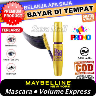 [COD] Maybelline Mascara Magnum Volum Express Waterproof Maybeline Maskara Volume Express With Collagen Anti Air Hypercurl Import Memanjangkan Bulu Mata Kosmetik Kecantikan Beauty Laz COD Bisa Bayar di Tempat Sasa Mall thumbnail