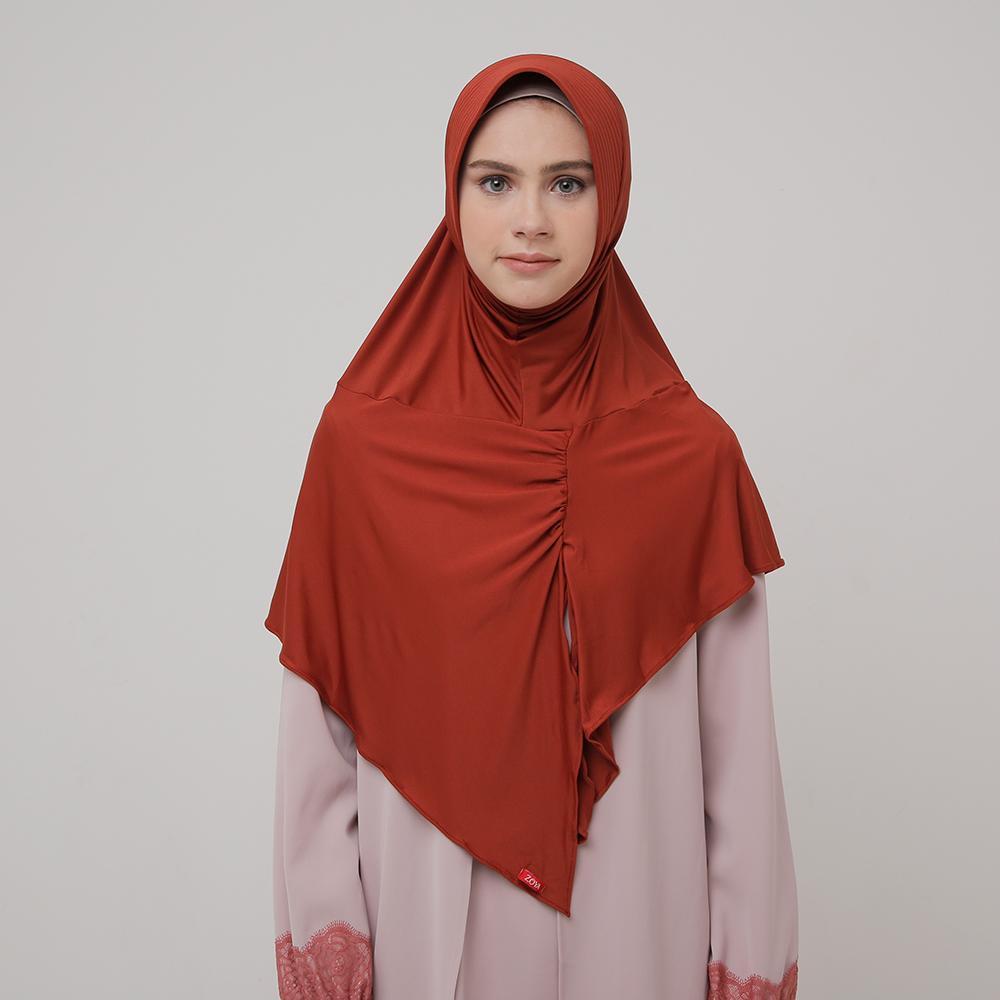 Kerudung Zoya Jilbab Instan - Kalila Filia Sunset | HEIQ Tech