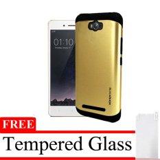 Elegant Case  Slim Armor  For Asus Zenfone MAX - Emas + Gratis Tempered Glass