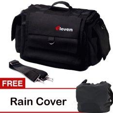 Jual Beli Online Eleven Tas Kamera Hitam Kanvas Gratis Rain Cover