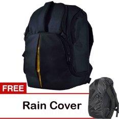 Toko Eleven Tas Kamera Ransel 4 Lensa Hitam Gratis Rain Cover Online Di Jawa Timur
