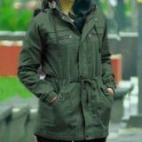 Situs Review Erds Jaket Parka Wanita Premium Baby Canvas 5903 Green Army