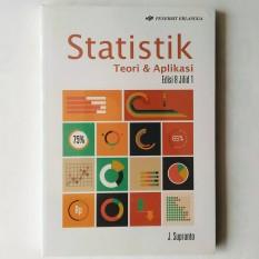 Jual Beli Online Erlangga Buku Statistik Teori Dan Aplikasi Ed 8 Jl 1 J Supranto