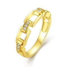 Keabadian Love Wanita Cantik 18 K Gold Disepuh Vintage Link dan Lamaran Cincin Pernikahan Rings Best Janji Untuknya Tony Anniversary Collection Cincin Perhiasan