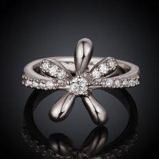 Keabadian Love Wanita Cantik 18 K Lapis Emas Putih Bunga Elegan dan Lamaran Cincin Pernikahan Rings Best Janji Untuknya Tony Ulang Tahun Koleksi Cincin Perhiasan