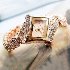 Eropa dan Amerika Korea Wanita Premium Wanita Berlian Naik Emas Gelang Watch