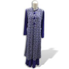 Eve Muslimwear Gamis Jersey Rompi Panjang (Violet)