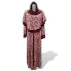 Harga Eve Muslimwear Gamis Syar I Motif Modis Merah Eve Muslimwear