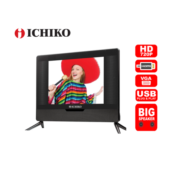 Ichiko LED USB Movie HDMI PC S1719 KU51 TV [17 Inch] HITAM
