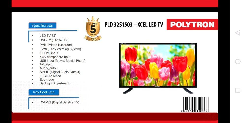 LED TV CINEMAX POLYTRON PLD-32TS1503
