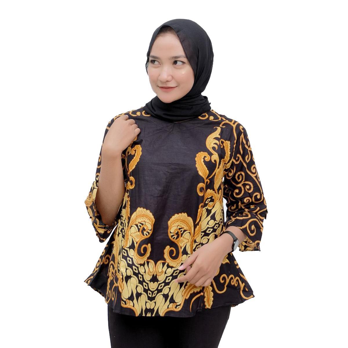 Baju Atasan Wanita Blouse Batik Modern Baju Kerja