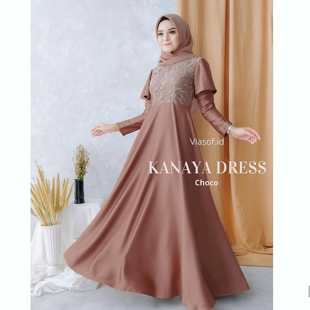Baju Gamis Brokat Model Terbaru 10 / Kanaya Dress Matt Maxmara / Gamis  Wanita Terbaru 10 Modern / Dress Wanita Terbaru 10 / Baju Brokat  Terbaru