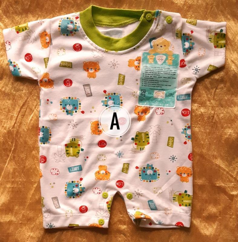 Baju Bayi Romper Pendek Libby New Born S.d. 6 Bulan By Little_shasya.