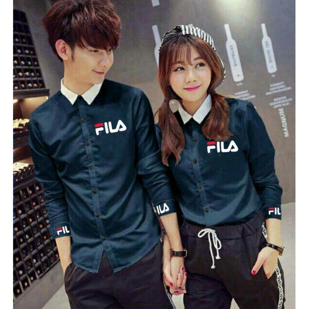 Jakarta Couple -Kemeja Couple EN FILA /Kemeja Pasangan /Kemeja Kotak Kotak / Baju